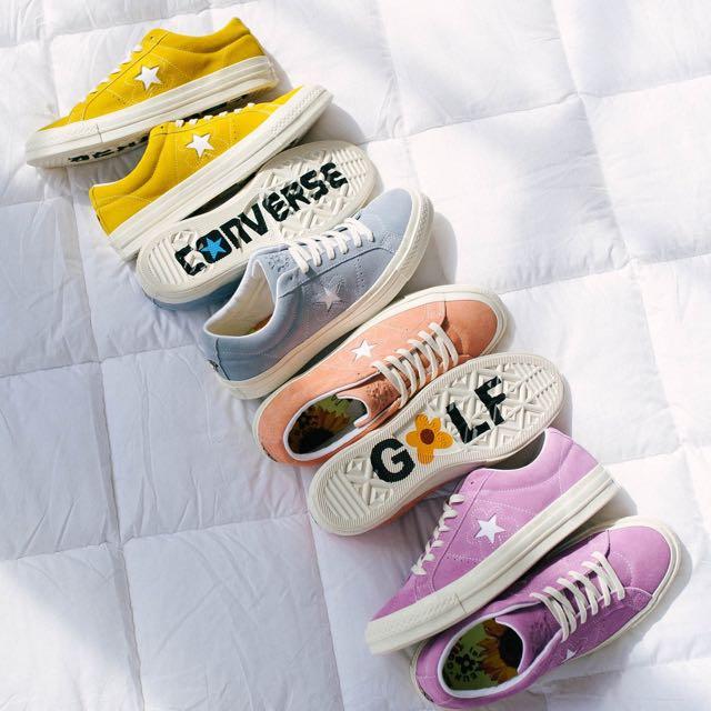 徵 Golf le Fleur x Converse One Star 粉色 紫色 藍色 黃色 24cm 新品二手可