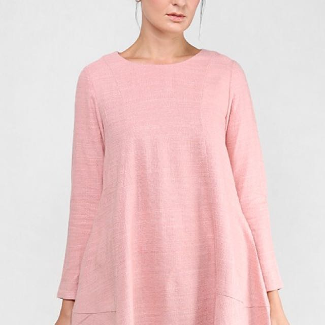 57be14802ca821 AERE Olyn Tunic Top in Blush Pink UK 6 (NEW!!), Women's Fashion ...