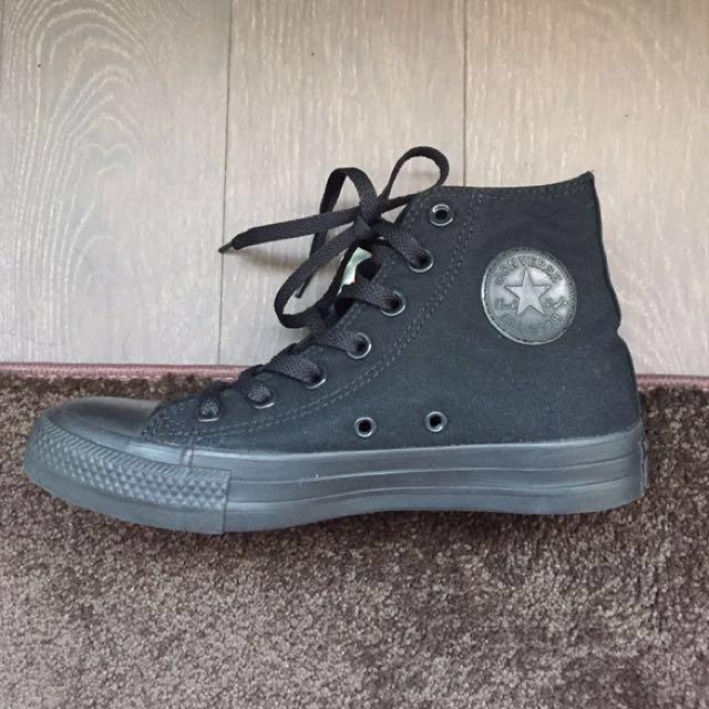 All Black Converse [High-Top]