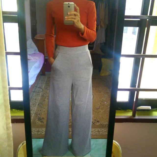 Ana abu wide pants