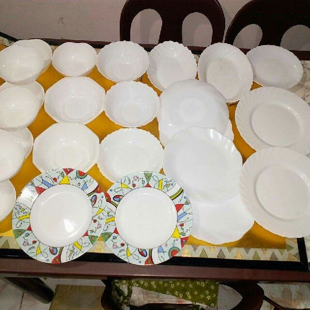 arcopal plates(24pcs)from japan, Kitchen & Appliances on Carousell