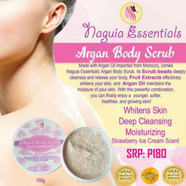 Argan Body Scrub by Naguia Essentials