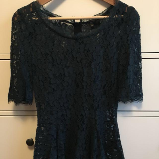 Babaton lace peplum blouse