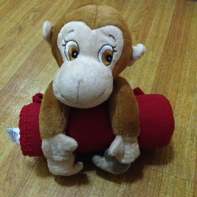 Baby Blanket with Monkey Toy for Travel