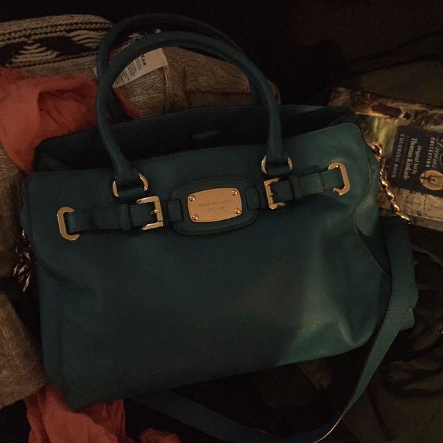 Beautiful authentic MK teal hand bag