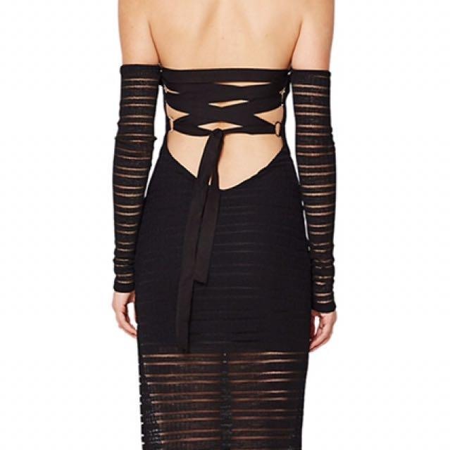 Bec and bridge deception lace up dress