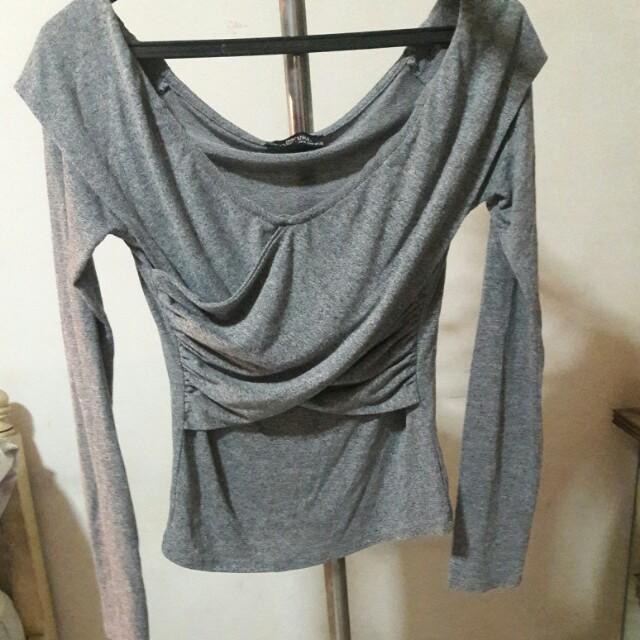 Bershka Grey long sleeve