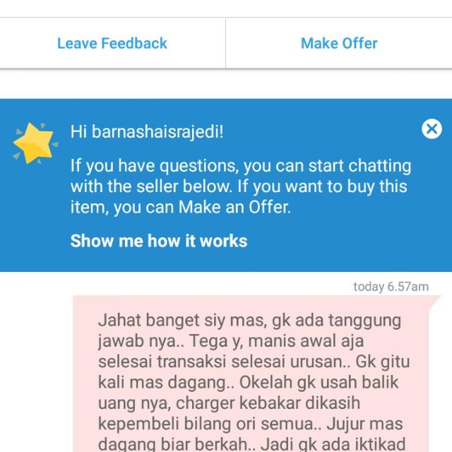 Beware penjual gk jujur @Maniac Jerapah