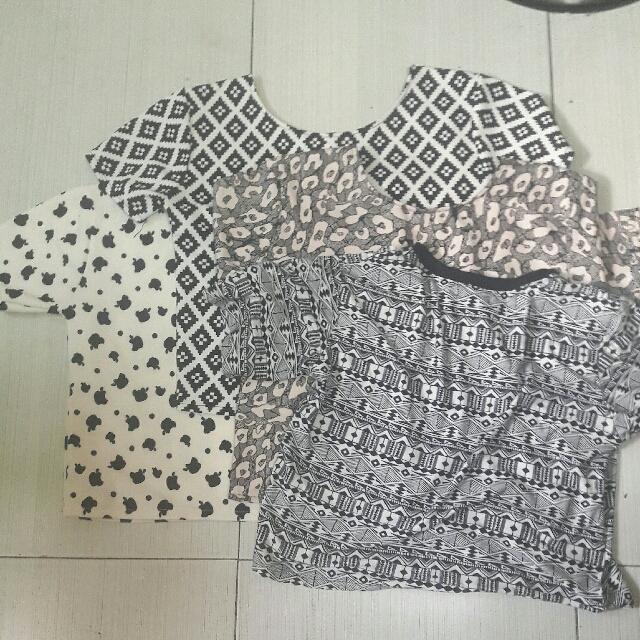 Black And White Crop Top Bundle