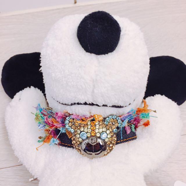Bling Bling💎💎💎 水晶熊🐻品牌 SWAROVSKI水鑽風 繽紛🍭狗狗🐶項圈(原價1780購入)