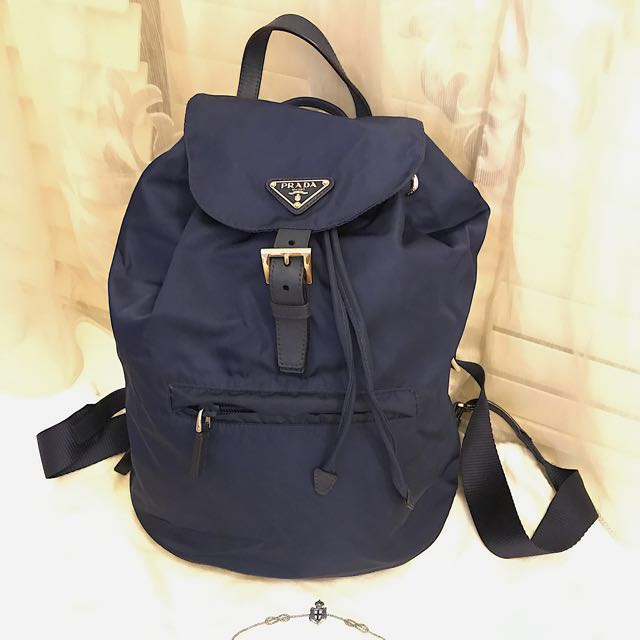 24392cbceace72 ... ireland blue prada vela backpack luxury bags wallets on carousell 87079  db50c