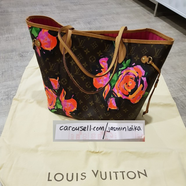 Price Reduced to  2.5K  BN LV Stephen Sprouse Roses Neverfull MM ... 81e01f0033c8