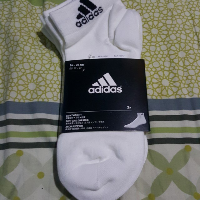 BN White Adidas Lo Cut Sock
