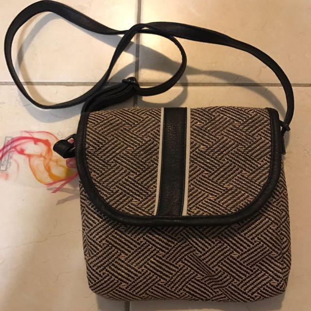 BNWT straw-style side bag