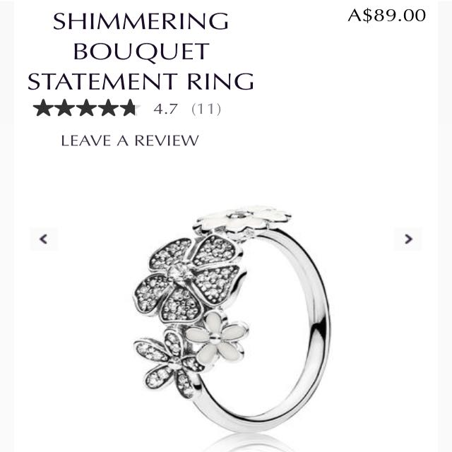 bcf591529 Brand new authentic Pandora shimmering Blooms bouquet statement ring 925  ale Sterling silver, Women's Fashion, Jewelry on Carousell