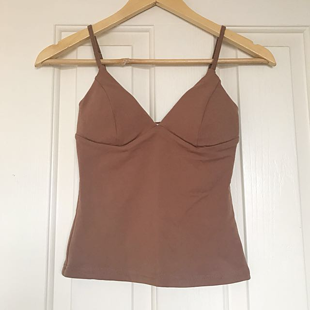 BRAND NEW Nude padded Singlet top
