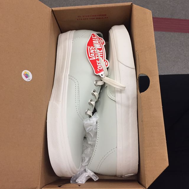 Brand New Vans Real Leather Sneakers