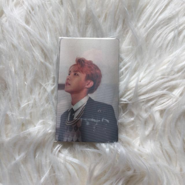 BTS WINGS concept book JHOPE lenticular photocard