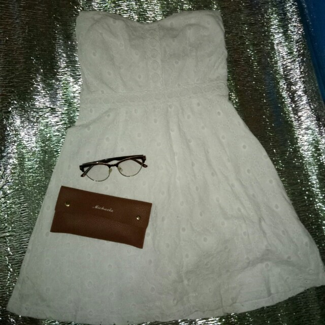 Bustier dress,eyelet,