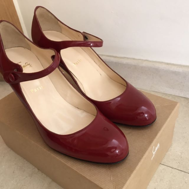 low priced 49311 d8f32 Christian Louboutin Red Patent 85mm shoes for sale