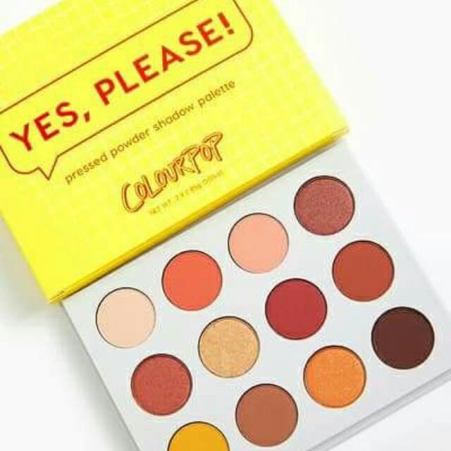 Colourpop Yes, Please Pressed Powder Eyeshadow Palette