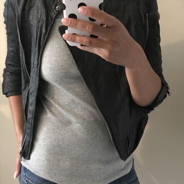 Costa Blanca faux leather jacket, size S