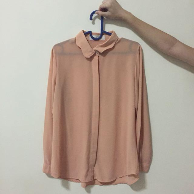 Cotton ink peach shirt