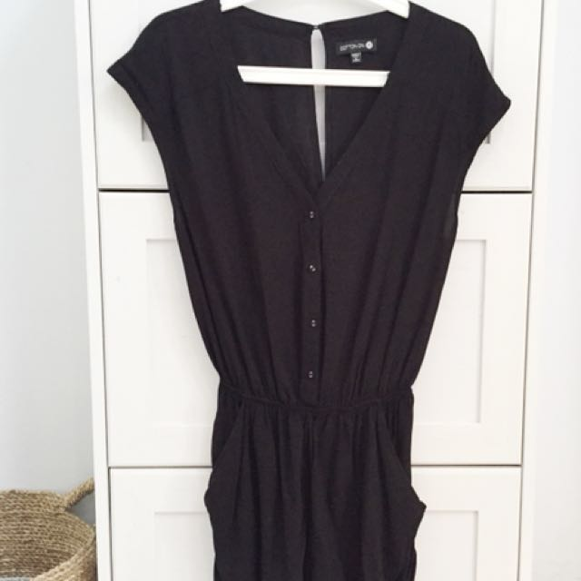 Cotton On Black Short Playsuit