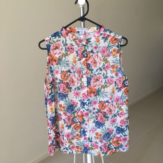 Cotton On Floral Shirt Too Size S