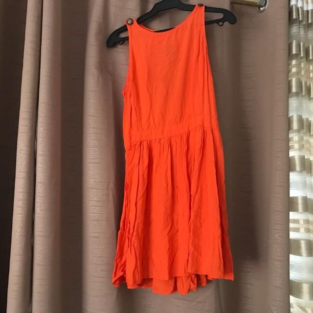 Cotton on orange dress