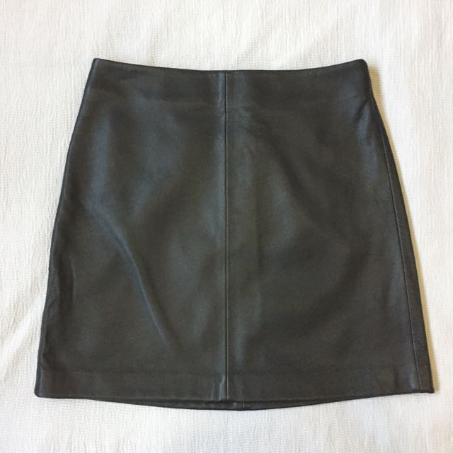 Country Road Leather A-line skirt