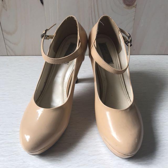 Creme Pump Shoes