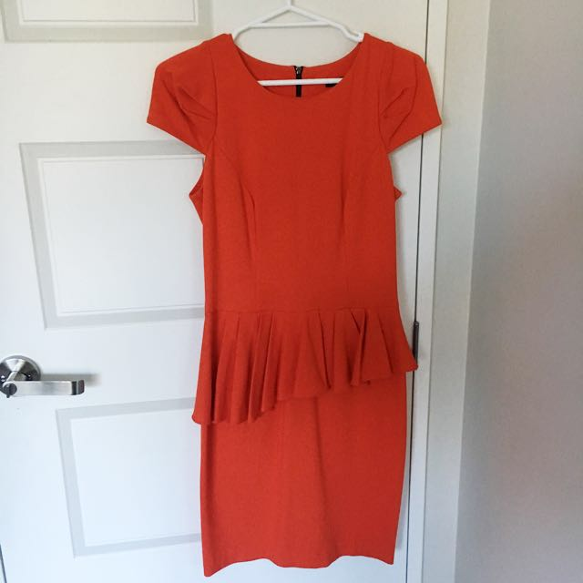 Cue Peplum Dress - Size 8
