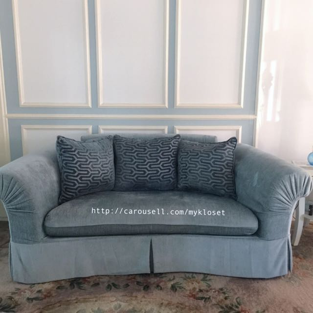Duck Egg Blue Leather Sofa: Duck Egg Blue Sofas Immaculate Dfs Duck Egg Blue Fabric