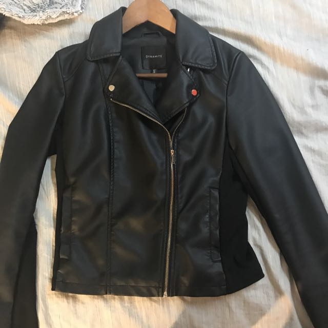 Dynamite leather jacket size small