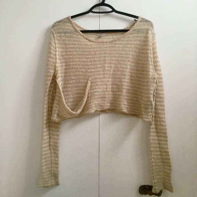 Ecote Long Sleeve Crop Knit size S