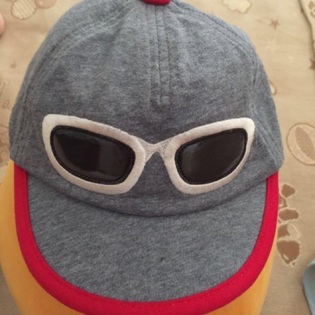 ELLE 假太陽眼鏡造型帽子 頭圍48-50
