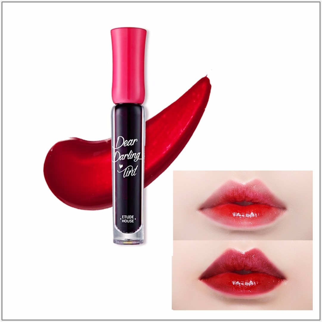 ETUDE HOUSE DEAR DARLING WATER GEL TINT #RD302 DRACULA RED