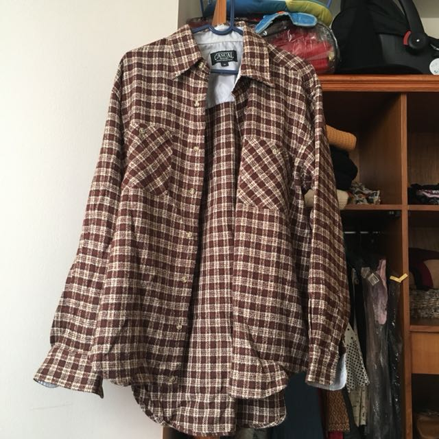 Flannel Red size M