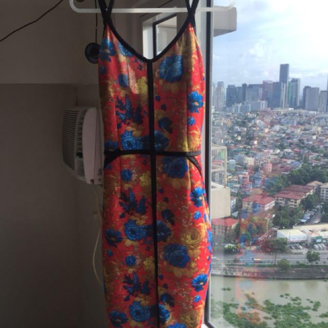 Floral Dress in Silk