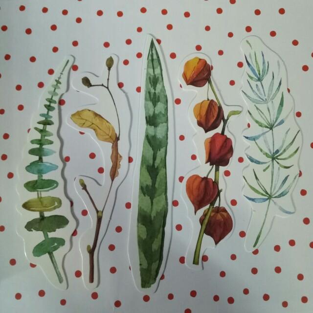 Flower & Leaf Bookmarks