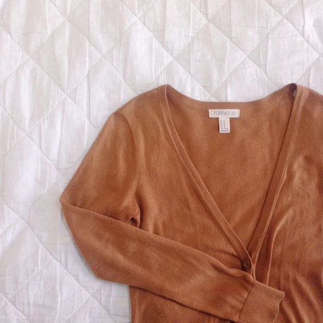 Forever21 Light Brown Cardigan