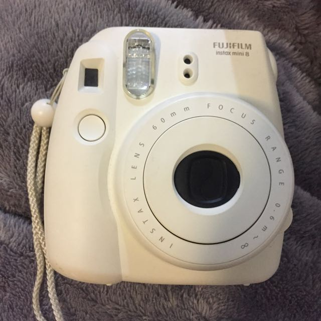 Fuji Polaroid Camera White
