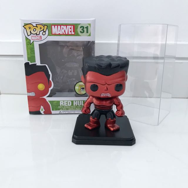 Funko POP red metallic hulk