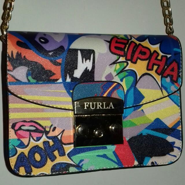 Furla Metropolis Eipha Blue REPRICE!!!!!!
