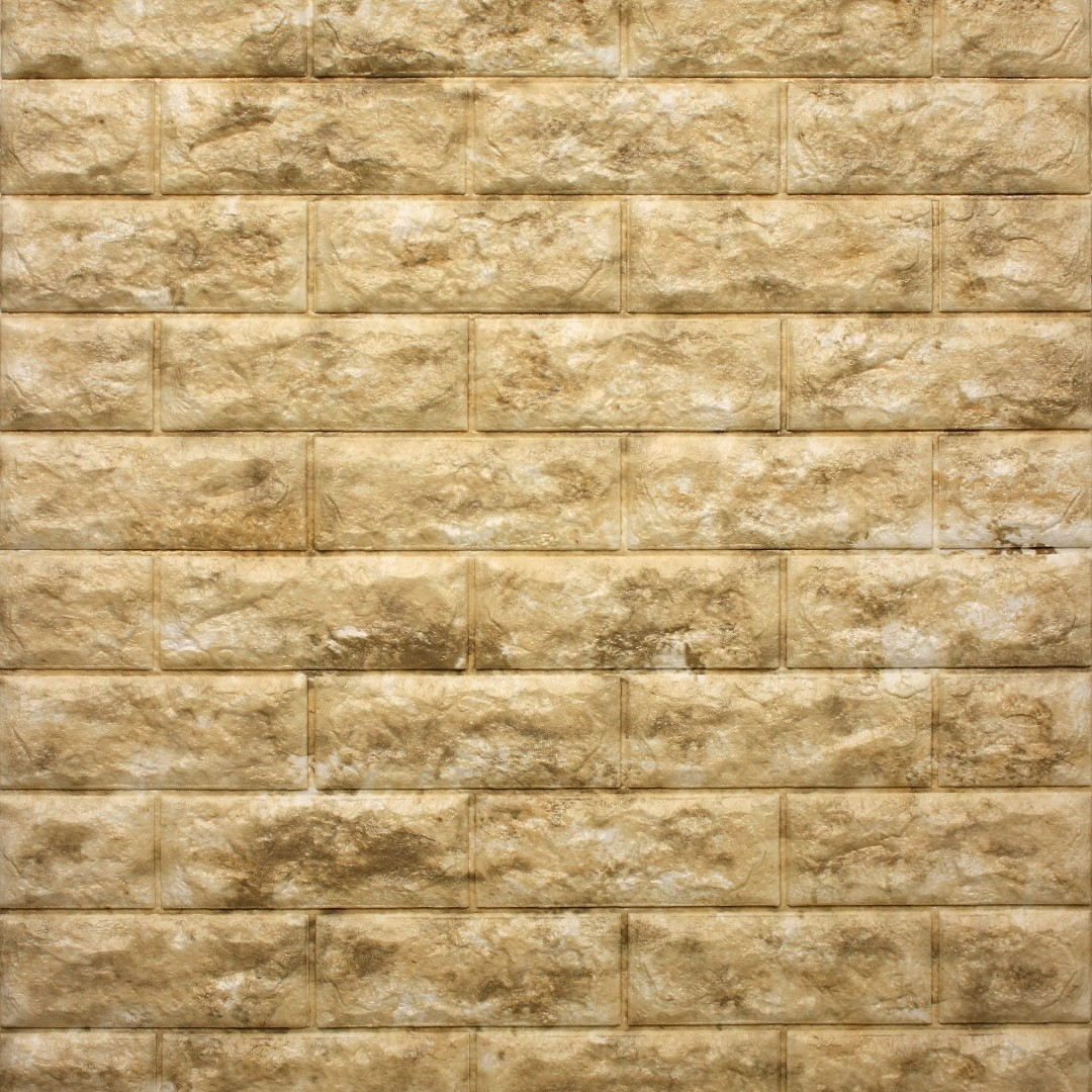 GENUINE] Classic Brick - Stone Beige: 3D High-Grade Foam Wall ...