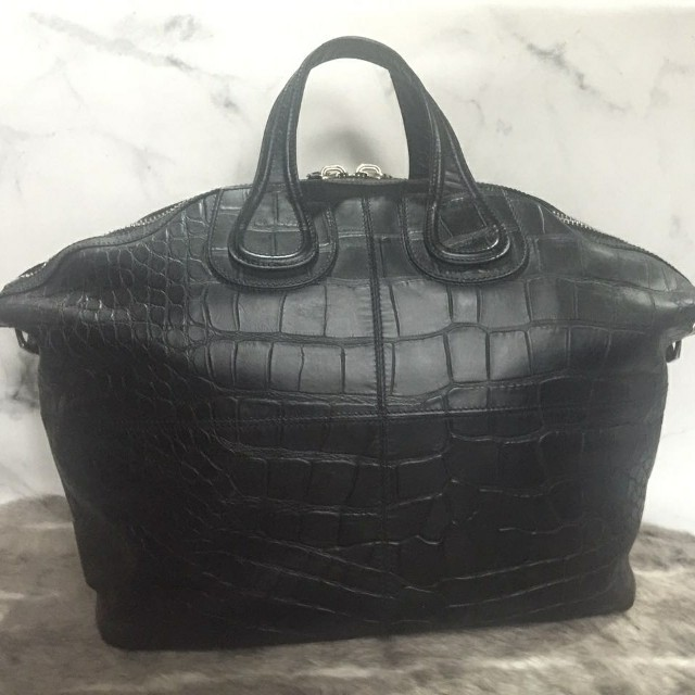 Givenchy Nightingale XL Croco Embossed Calf Leather