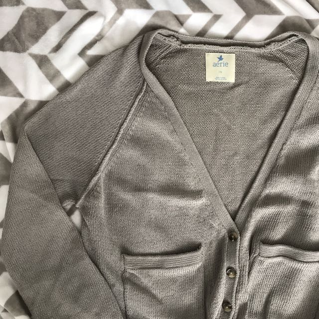 Grey slouchy cardigan