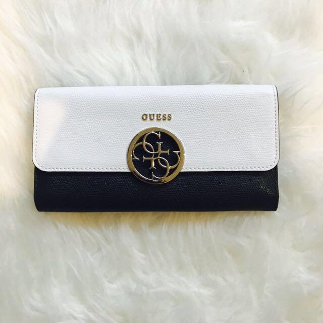 GUESS Long Wallet (Black & White)
