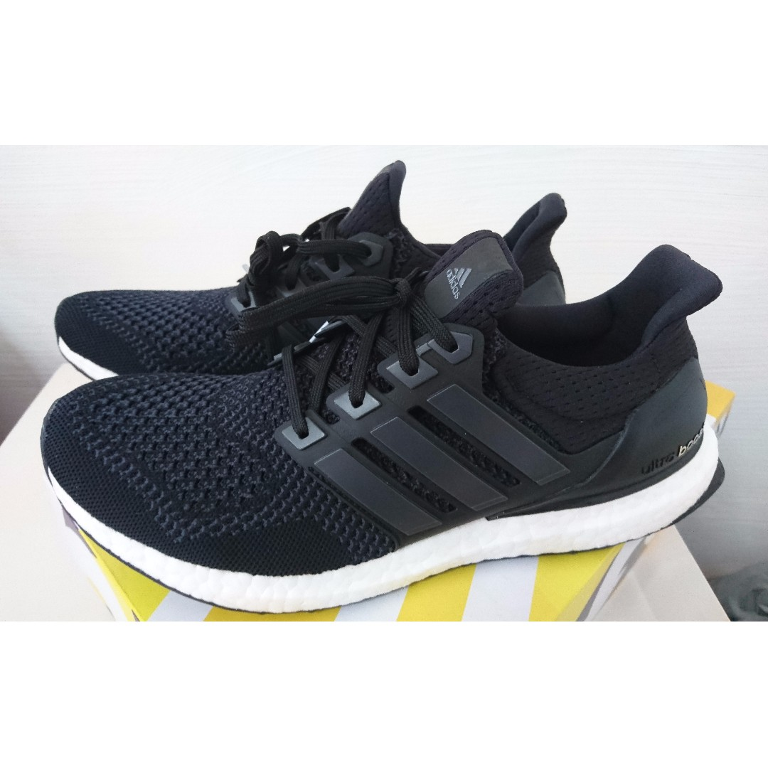 a62a84634be9 ... inexpensive heat adidas ultra boost 1.0 core black mens fashion  footwear on carousell b6ef0 ed637